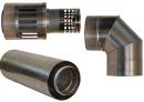 Коаксиальный дымоход для газовых каминов Karma Style 1000 мм в Самаре